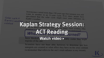 Kaplan Strategy Session: ACT Reading